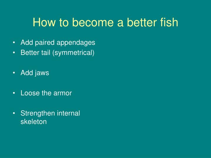 How to become a better fish