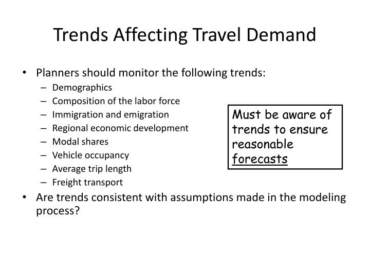 Trends Affecting Travel Demand