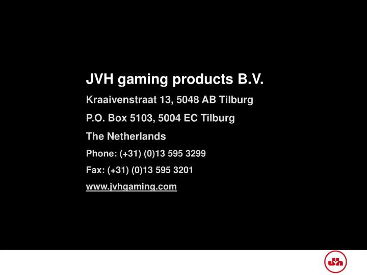 JVH gaming products B.V.