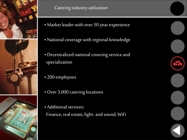 Catering industry utilization