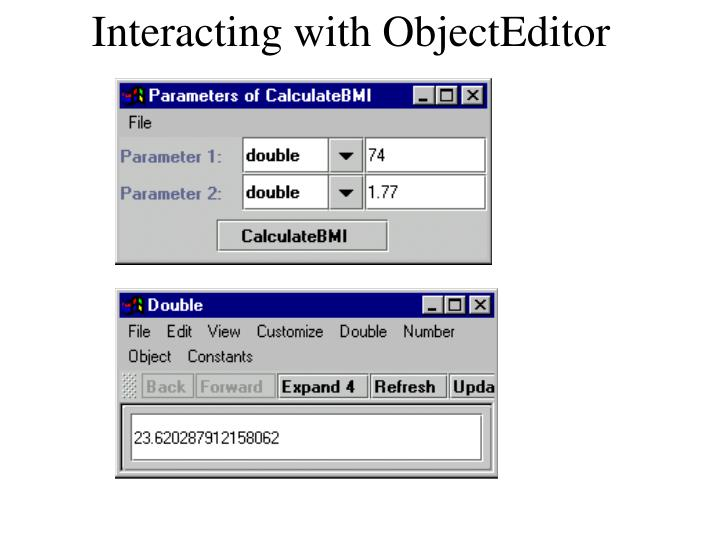 Interacting with ObjectEditor