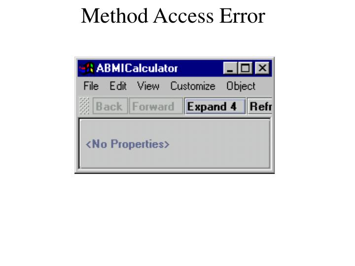Method Access Error