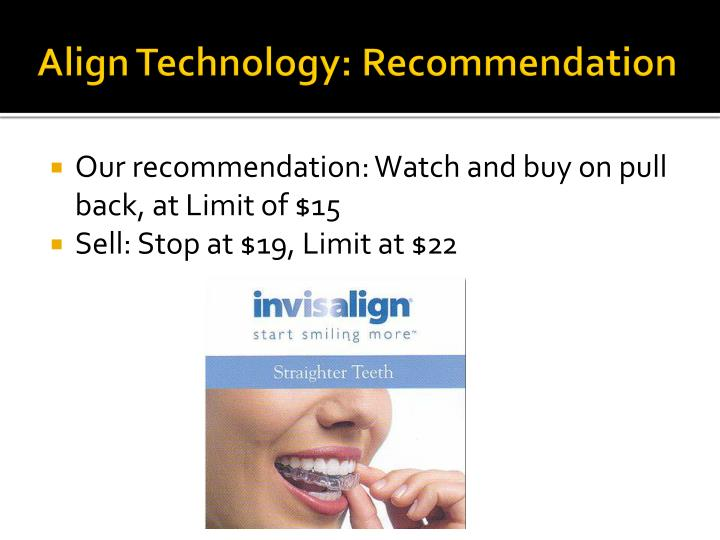 Align Technology: Recommendation