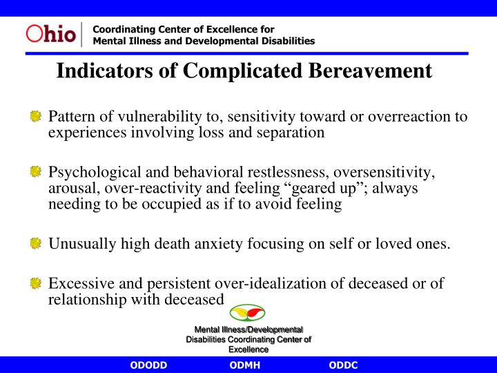 Pattern of vulnerability to, sensitivity toward or overreaction to experiences involving loss and separation