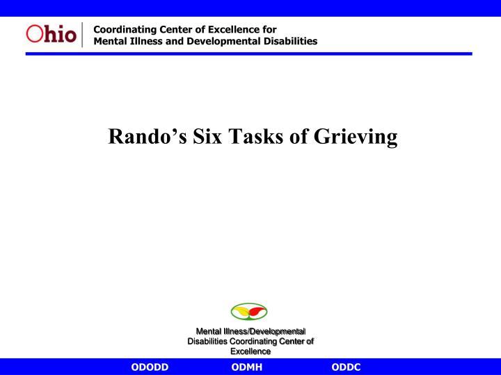Rando's Six Tasks of Grieving