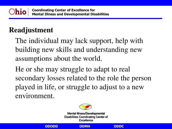 Readjustment