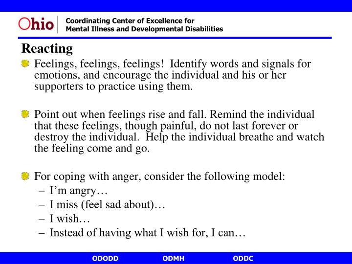 Reacting
