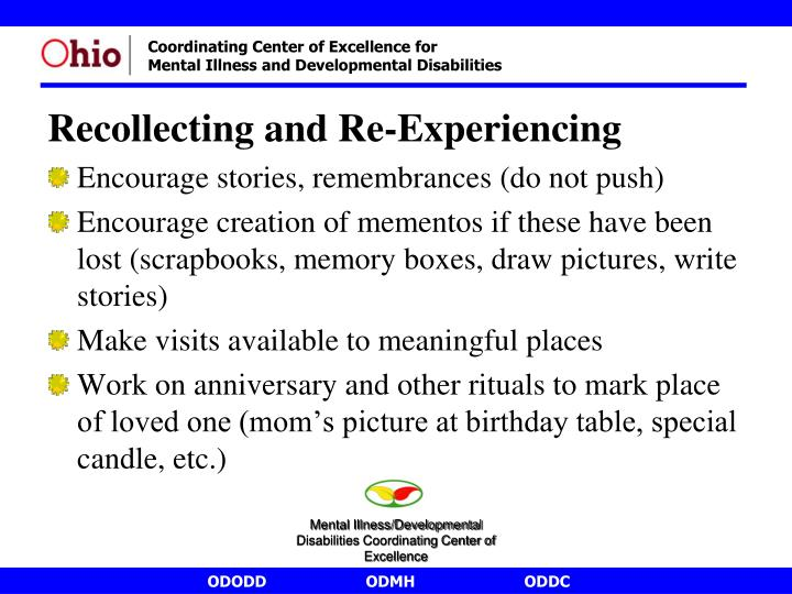 Recollecting and Re-Experiencing