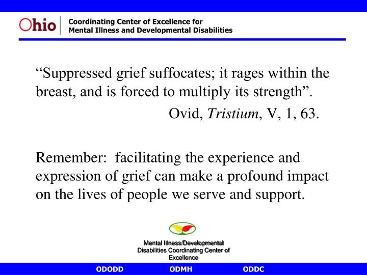 """""""Suppressed grief suffocates; it rages within the breast, and is forced to multiply its strength""""."""