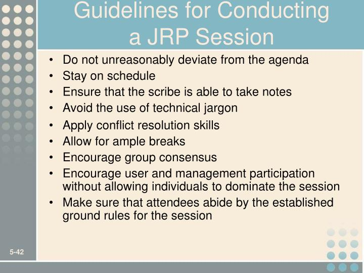 Guidelines for Conducting