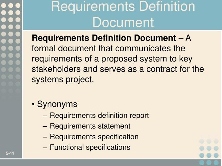 Requirements Definition Document