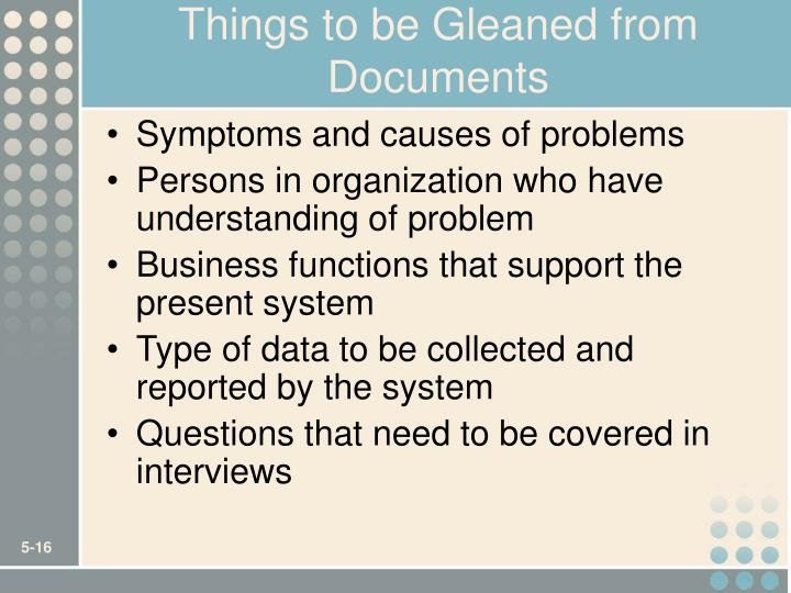 Things to be Gleaned from Documents