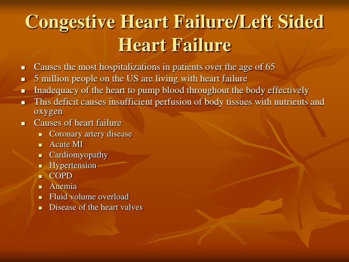 Congestive Heart Failure/Left Sided Heart Failure