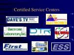 certified service centers1
