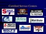 certified service centers2