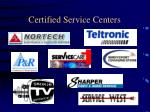 certified service centers3