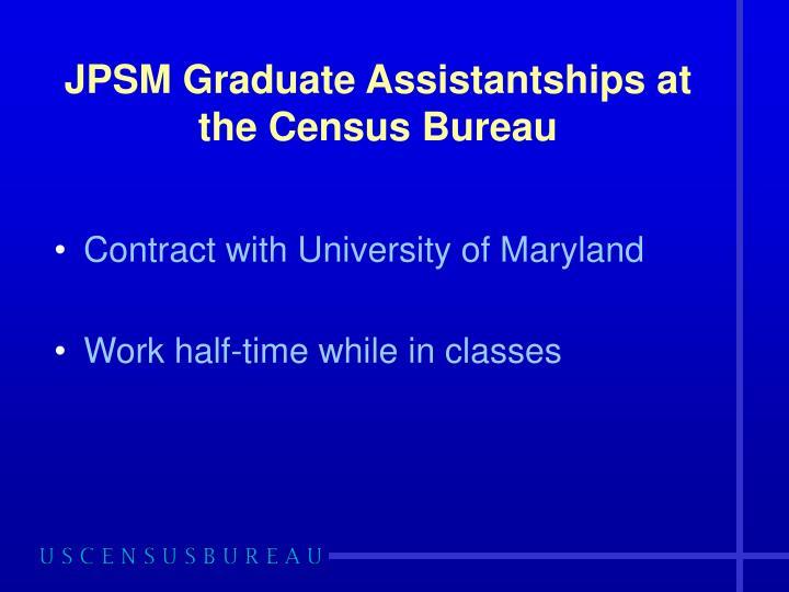 JPSM Graduate Assistantships at the Census Bureau