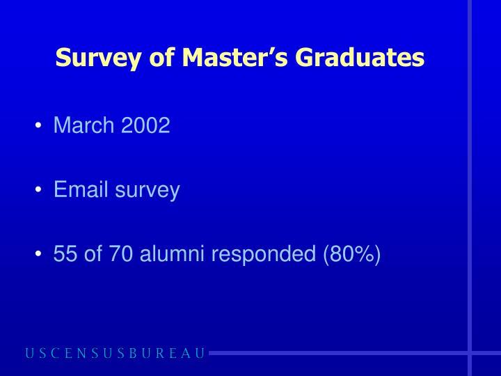 Survey of Master's Graduates