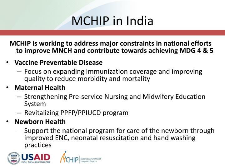 MCHIP in India
