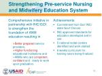 strengthening pre service nursing and midwifery education system