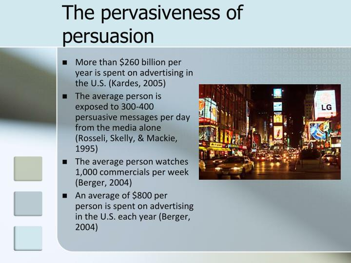 The pervasiveness of persuasion