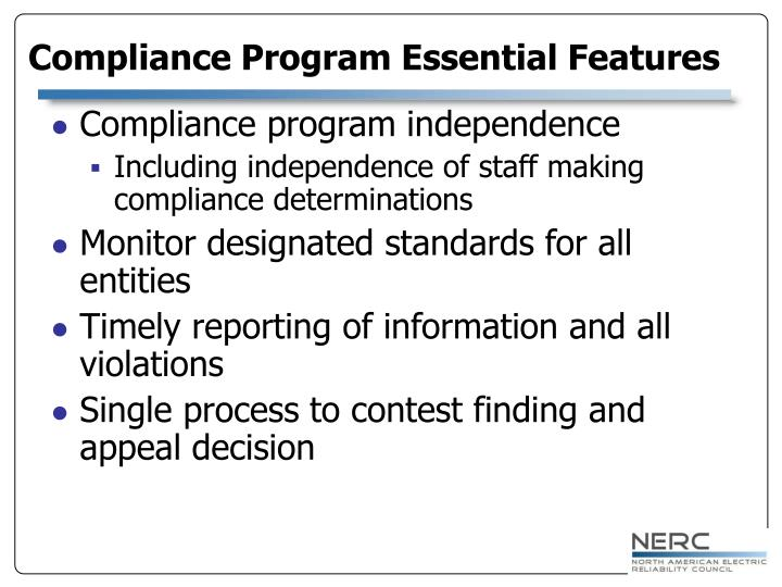 Compliance program independence