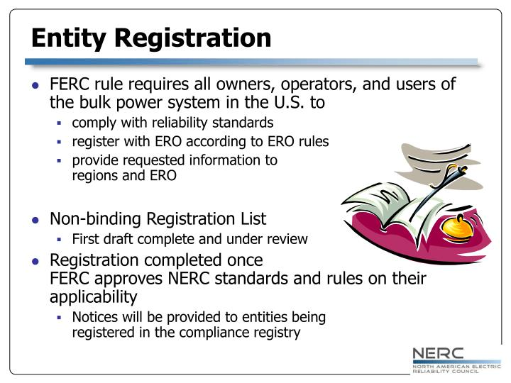 Entity Registration
