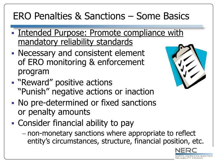 ERO Penalties & Sanctions – Some Basics