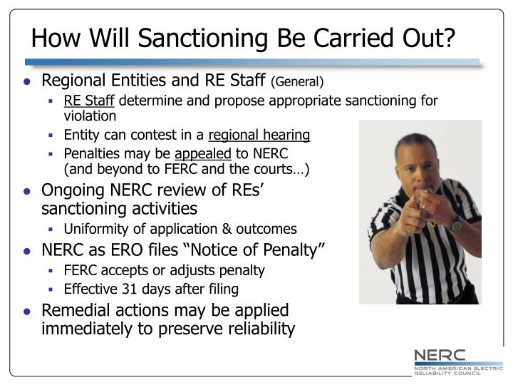 How Will Sanctioning Be Carried Out?