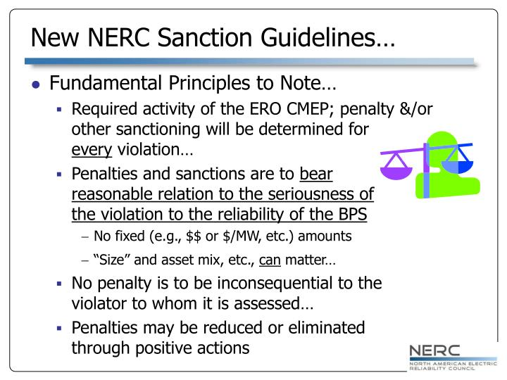 New NERC Sanction Guidelines…