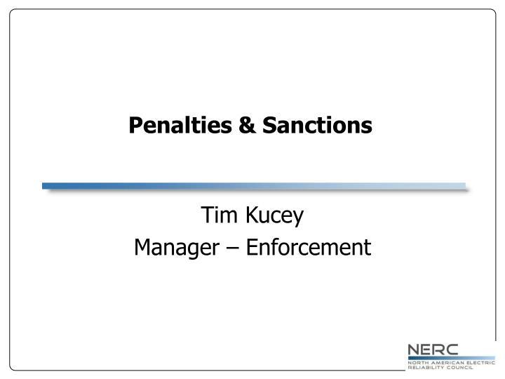 Penalties & Sanctions