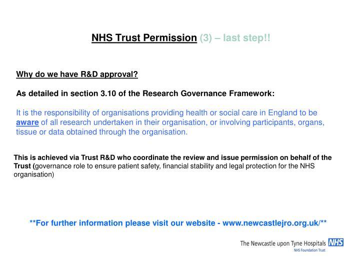 NHS Trust Permission