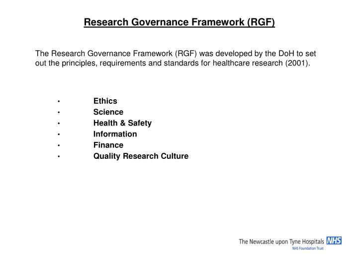 Research Governance Framework (RGF)