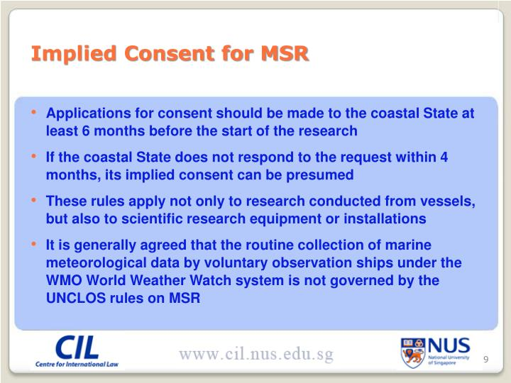 Implied Consent for MSR