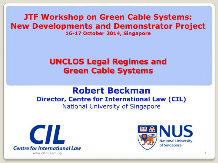 JTF Workshop on Green Cable Systems:
