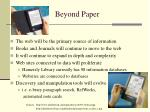 beyond paper
