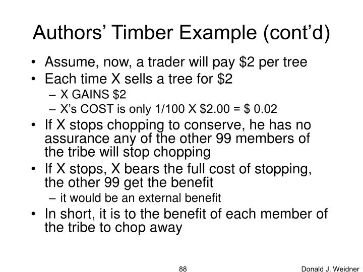 Authors' Timber Example (cont'd)