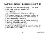 authors timber example cont d