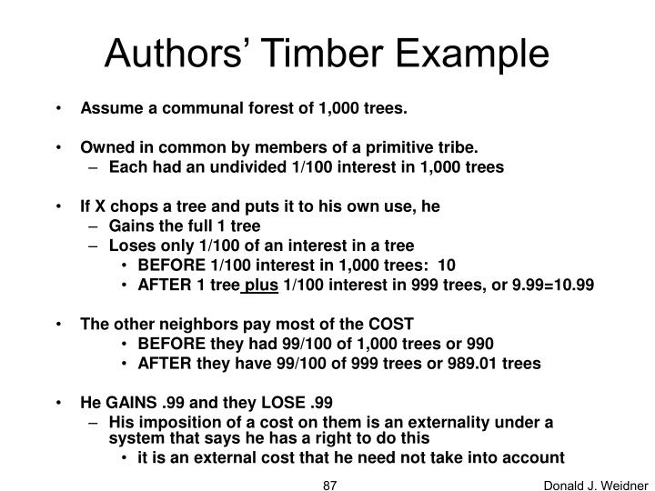 Authors' Timber Example