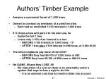 authors timber example
