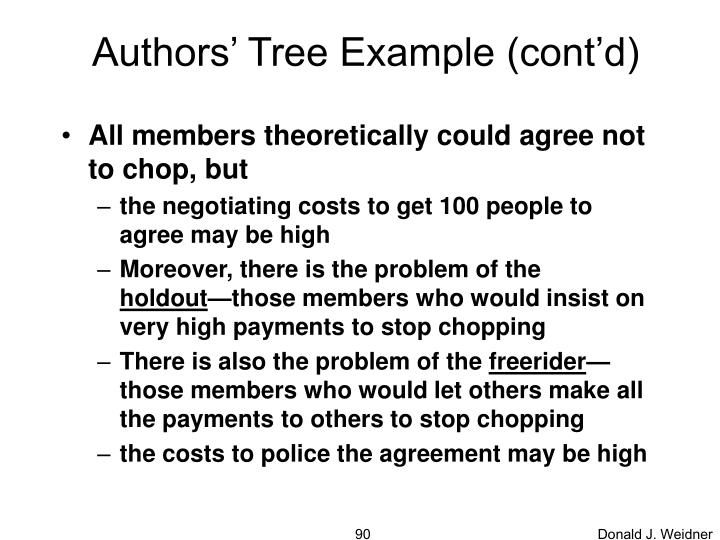 Authors' Tree Example (cont'd)