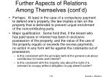further aspects of relations among themselves cont d