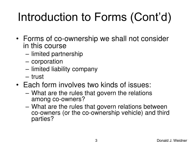 Introduction to forms cont d