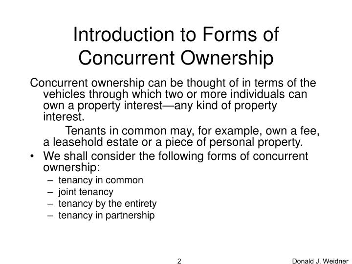Introduction to forms of concurrent ownership
