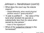johnson v hendrickson cont d1