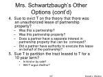 mrs schwartzbaugh s other options cont d