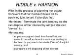 riddle v harmon