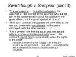 swartzbaugh v sampson cont d2