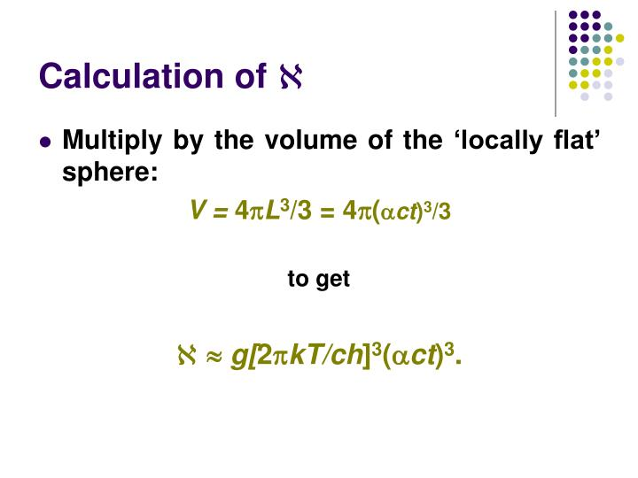 Calculation of