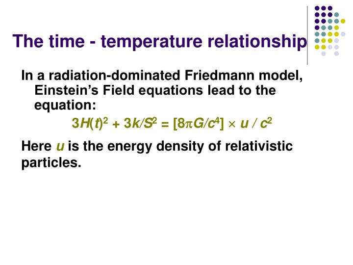 The time temperature relationship
